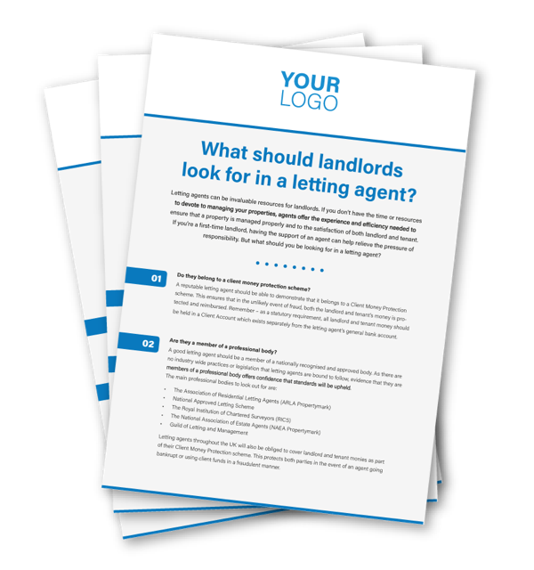 Flyer - What should landlords look for?
